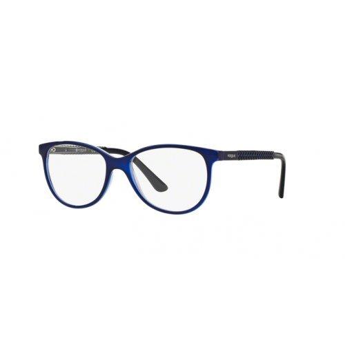 Vogue VO5030 Eyeglass Frames 2384-53 - Top Dark Blue/violet Transp VO5030-2384-53
