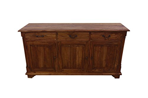 NES Furniture Fine Handcrafted Solid Teak Wood Sibolga Buffet/Cabinet, 63