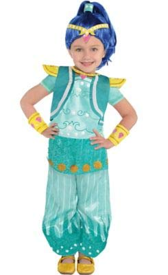 Amscan Shimmer and Shine Halloween Costume for Toddler Girls, Shine, 3-4T, with Included -