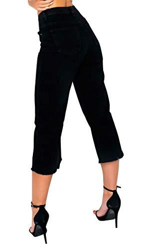 Womens Jeans Mid Black Recadre Ikrush Rise Pattes Nadine d4HXwP