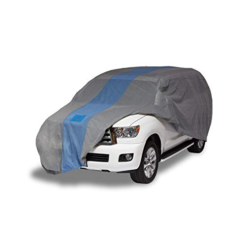 Duck Covers Defender SUV Cover for SUVs/Pickup Trucks with Shell or Bed Cap up to 17' ()