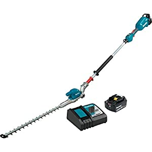 Makita XNU01Z Lithium-Ion Brushless Cordless, Tool Only 18V LXT 20″ Articulating Pole Hedge Trimmer, Teal