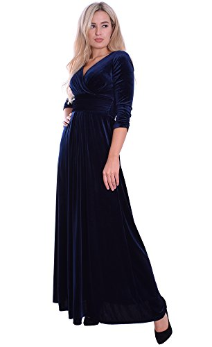 Nachtblau 38 Abendkleid Langes Konzert Anlass Partykleid Festlicher Theater 8vf7P