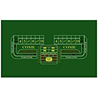 USA Gaming Craps Felt in Green (10 ft. x 5 ft.)