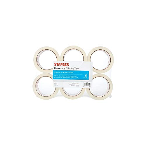 - Staples 601376 Heavy Duty Shipping Packing Tape 1.88