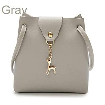 Image Unavailable. Image not available for. Color  Cute Deer Hasp Crossbody  Bag for Women Shoulder Female String Small Leather Bucket Vintage Tote 2018 45d5468a0d78a
