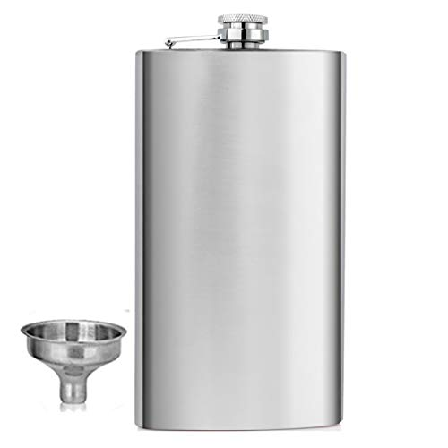 Shenglin Classic Style Stainless Steel Liquor Whiskey Hip Flask Silver 12 oz ()
