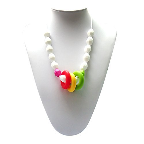 Adelily Nontoxic Nursing & Teething Necklace: Candy-colored Beads by adelily.com   B00NKR71P2
