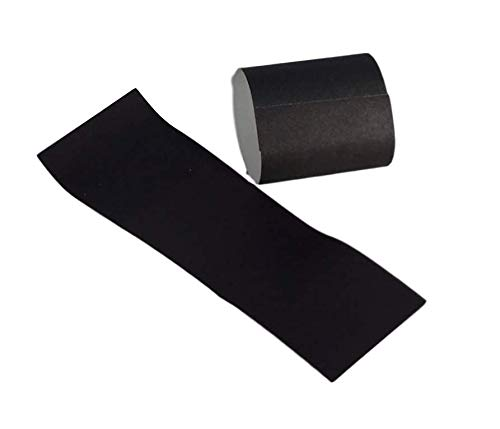 Self-Adhering Bond Paper Napkin Band 1.5 inches x 4.25 inches by MT Products - Pack of 750 Pieces (Black)
