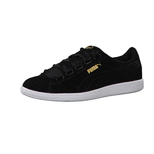 para Puma black Black Zapatillas Negro Mujer Vikky Ribbon vvxrqwtA4