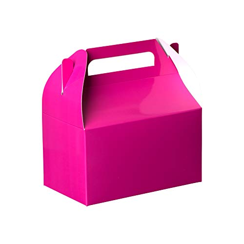 Hammont Pink Colored Paper Treat Boxes -Party Favors Treat Container Cookie Boxes Cute Designs Perfect for Parties and Celebrations 6.25