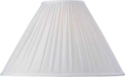 Dolan Designs 140052 Empire Random Pleat Soft Back Lamp Shade, White ()