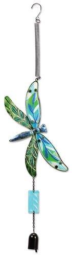 Sunset Vista Designs Jumbo Fusion Glass Dragonfly Bouncy Hanging ()
