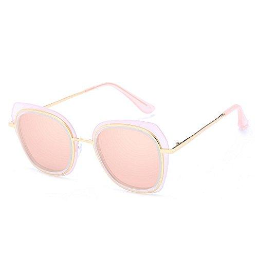 pour de Pink Charme de Lunettes polarisées Femmes GWF Silver Les à Dame la Soleil Monture de de Couleur Soleil incassable Lunettes irrégulière 58q8xfw1a