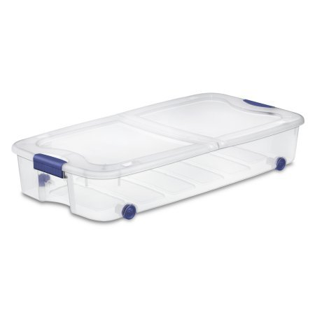 Sterilite 66 Qt./62 L Ultra Storage Box, Stadium Blue, Available in Case of 4 or Single Unit by Sterilite Product.