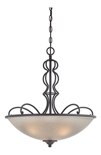 (Natural Iron Tangier 2 Light Bowl Shaped Pendant )