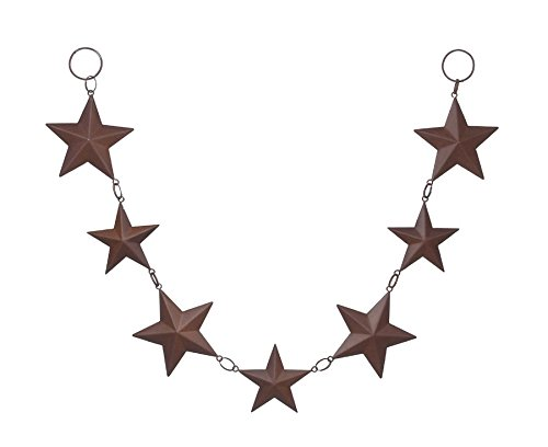 (Darice 6557-97 Tin Star Rusted Garland, 24