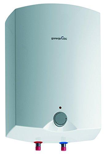 Gorenje Warmwasserspeicher, 15 L, EEK A, emaillierter Innenbehälter, 2 kW, Obertisch, druckfest, 1 Stück, weiß, GT 15 O