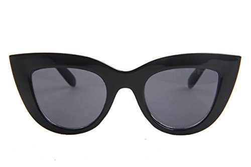 SojoS Fashion Classic Celebrity Bold Thick Womens Ladies Cat Eye Sunglasses SJ2939 With Black FrameGrey Lens