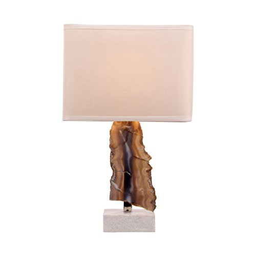 Dimond Lighting Minoa Table Lamp in Natural Agate and Marble - Natural Agate Table Lamp