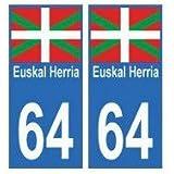 64 Euskal Herria autocollant plaque - droits