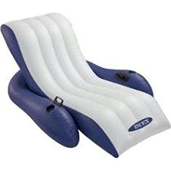 Intex Inflatable Floating Lounge Pool Recliner Lounger Chair with Cup Holders  sc 1 st  Amazon.com & Amazon.com: Floating Recliner Inflatable Swimming Pool Lounge ... islam-shia.org