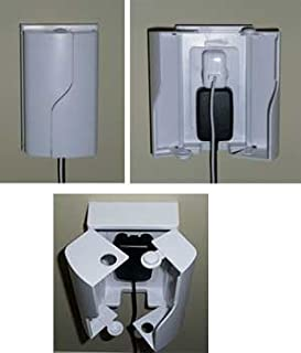 Twin Door Outlet Box  sc 1 st  Amazon.com & Amazon.com : Home Safe by Summer Deluxe Outlet Cover : Baby