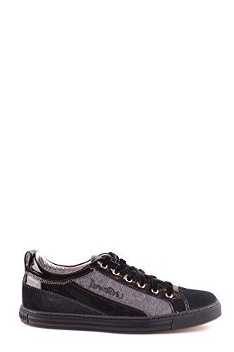 Cuero MCBI107221O Negro Mujer Zapatillas DSQUARED2 v86zxz