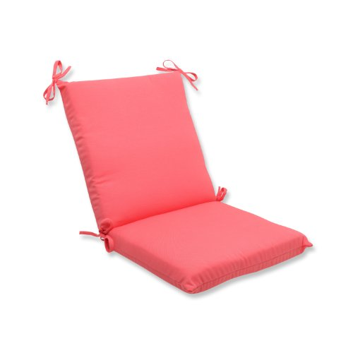 Pillow Perfect Outdoor Fresco Melon Squared Corners Chair Cu