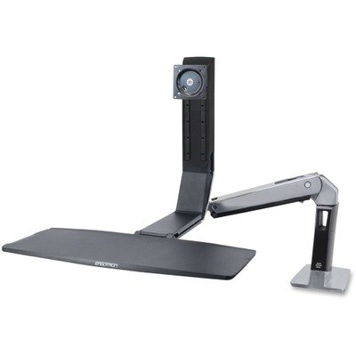 WorkFit-A Sit-Stand Height Adjustable Workstation/Cart by Ergotron