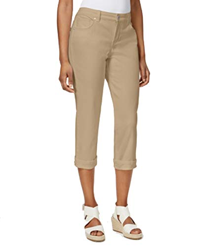 (Style & Co. Petite Tummy-Control Cuffed Capri Jeans Size 14/P)