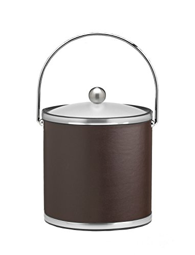Kraftware Vinyls and MYLARS Ice Bucket, 3 Quart, Brown