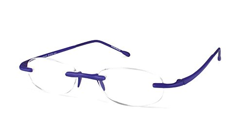 Scojo New York Unisex Gels Metallic +3.00 Sapphire Reading Glasses