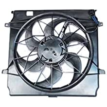 TYC 621140 Jeep Liberty Replacement Radiator/Condenser Cooling Fan Assembly(3 Pin)