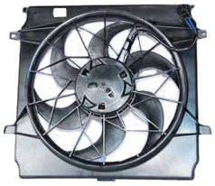 TYC 621140 Jeep Liberty Replacement Radiator/Condenser Cooling Fan Assembly(3 (Jeep Fan)