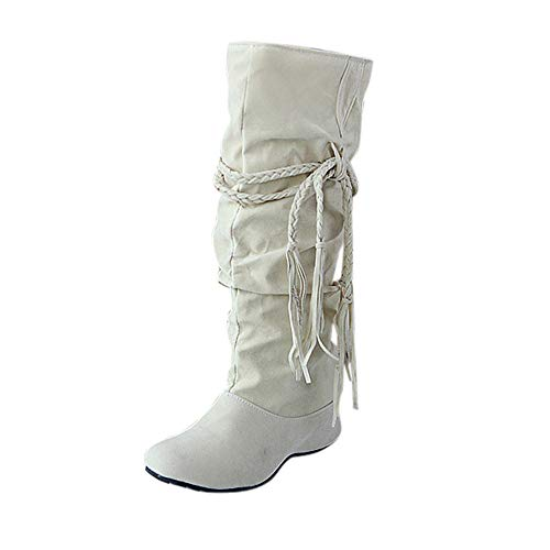 Y Invierno Polp Para Zapatos Tacon Beige Lluvia Altos Altas Botines Botas De Cuña Mujer wBII1A