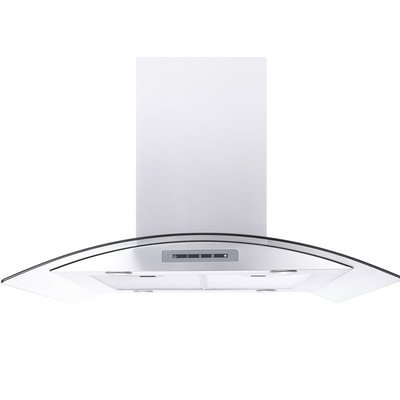 "Windster 41"" Convertible Range Hood Stainless steel and glass WS-68N42SS"