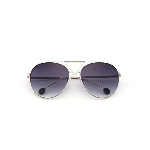 Gafas Big Color Sol Glasses Gafas Sol Gafas Face Ocean de B B de Retro Transparent Sol de Round rqrwSXx4