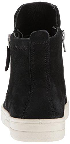 Ecco Femmes Fara Zip Bootie Mode Sneaker Noir Nubuck