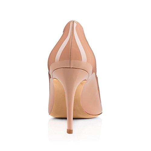 Mid Dress Pumps Classic for Women Toe Pointed apricot heel wICIREq