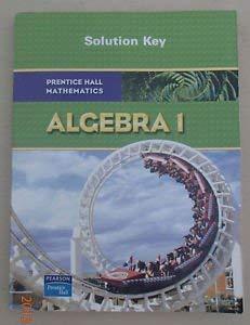 Prentice Hall Algebra Solution Key