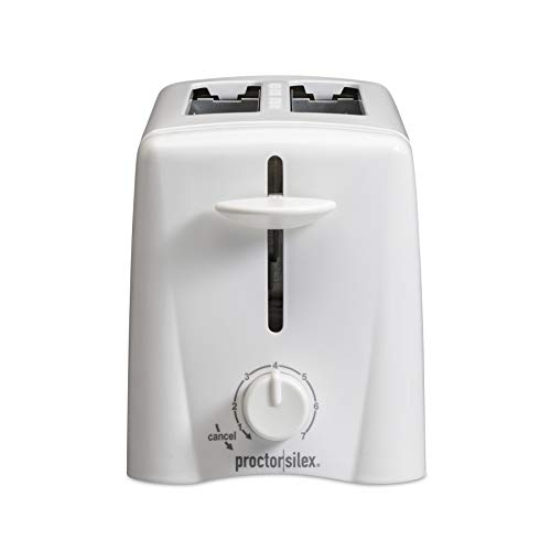Proctor Silex 2-Slice Toaster with Shade Selector, Toast Boost, Slide-Out Crumb Tray, Auto-Shutoff and Cancel Button…