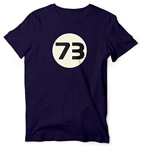 73 Sheldon Cooper Big Bang Theory 73 Perfect Number T Shirt Tee Tshirt Navy (Sheldon Cooper Best Number)