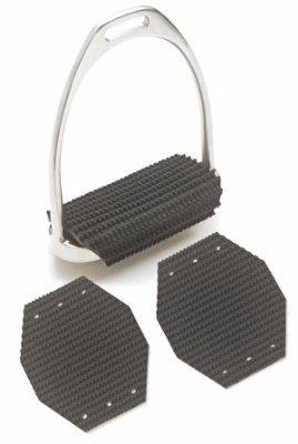 Super Comfort Stirrup Pads - English Black Size: 4.5 - Stirrup Pads