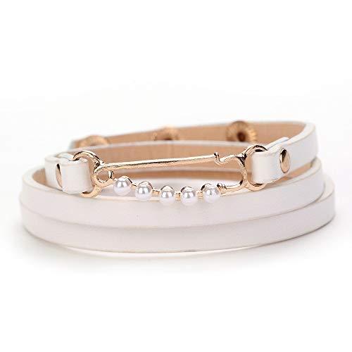 OWEGAI-80 Bracelet Fashion Women Multilayer Handmade Leather Bracelet Bangle