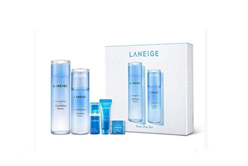 [Laneige] Basic Duo Set - Moisture : Skin Refiner 200ml + Emulsion 120ml + Water Bank Essence 10ml + Water Bank Moisture 10ml + Water Sleeping Mask 15ml (Moist type)