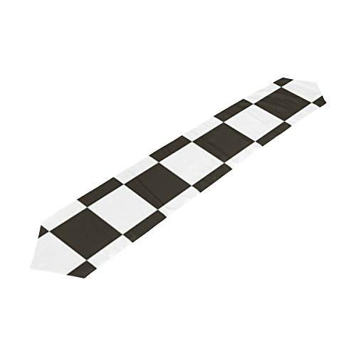 Table Runner Checkered Flag Home Decor Dresser Scarves