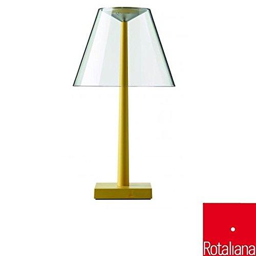 Rotaliana Dina + LED lámpara de mesa con batería recargable ...