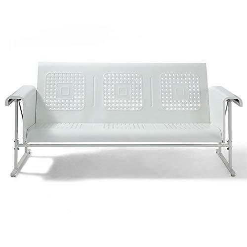 Crosley Furniture Veranda Patio Gliding Sofa in Alabaster White