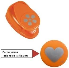 RAYHER Heart Motive Puncher 2.54 cm Orange